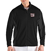 Antigua Men's New York Giants Passage Black Full-Zip Jacket