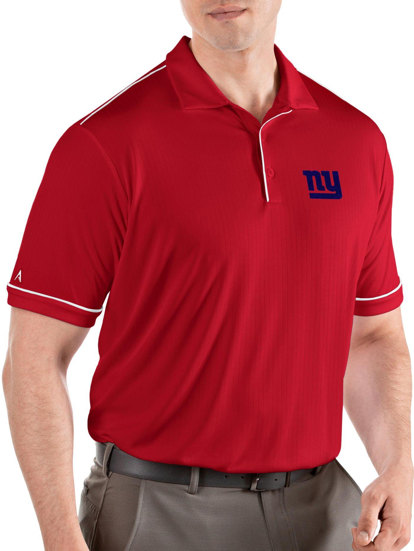 Antigua Men's New York Giants Salute Red Polo
