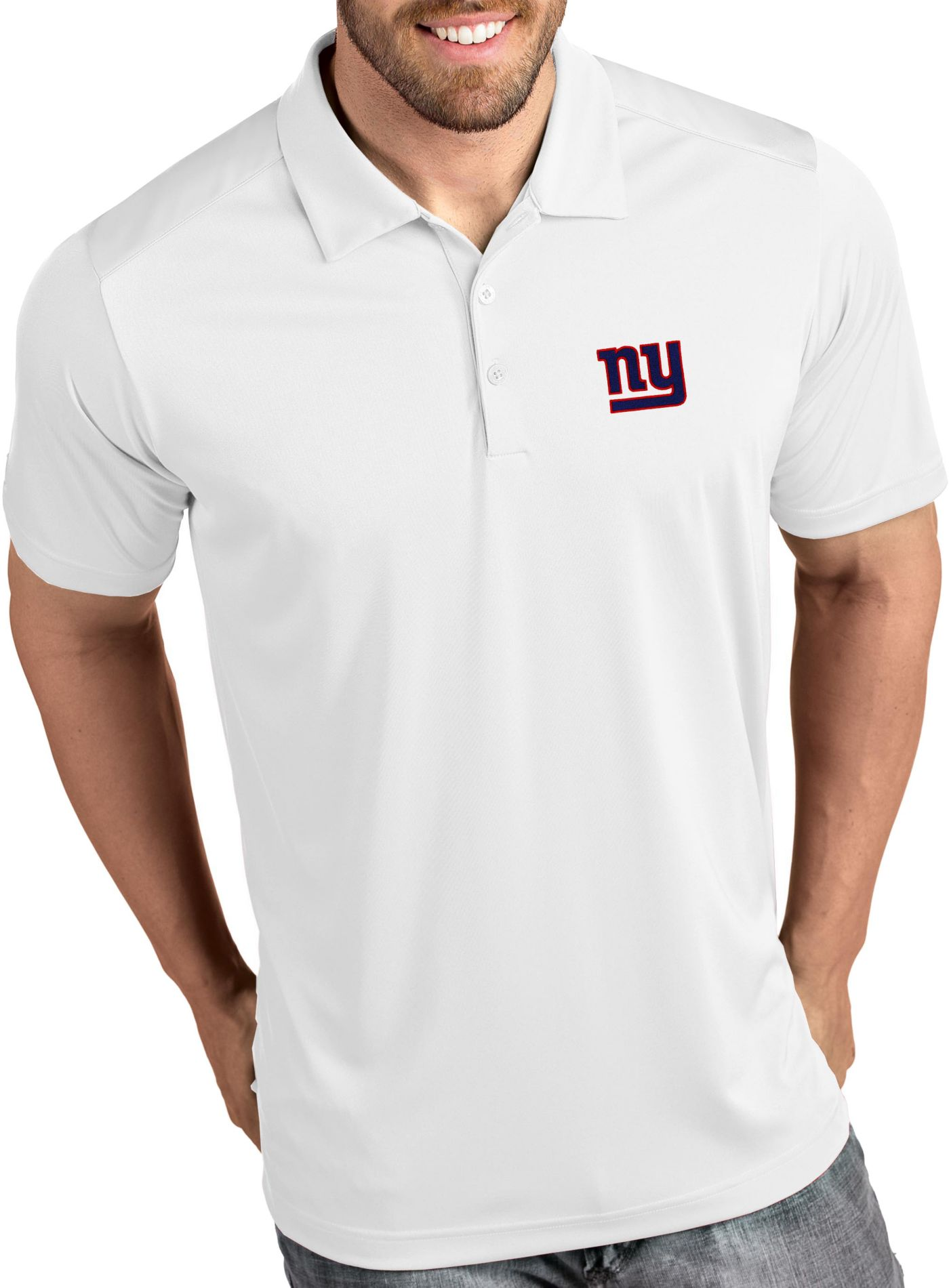 Antigua Men's New York Giants Tribute White Polo