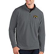 Antigua Men's Jacksonville Jaguars Glacier Grey Quarter-Zip Pullover