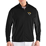 Antigua Men's Jacksonville Jaguars Passage Black Full-Zip Jacket