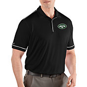 Antigua Men's New York Jets Salute Black Polo