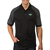 Antigua Men's New York Jets Engage Black Performance Polo