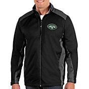 Antigua Men's New York Jets Revolve Black Full-Zip Jacket