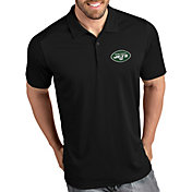 Antigua Men's New York Jets Tribute Black Polo