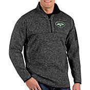 Antigua Men's New York Jets Fortune Black Pullover Jacket