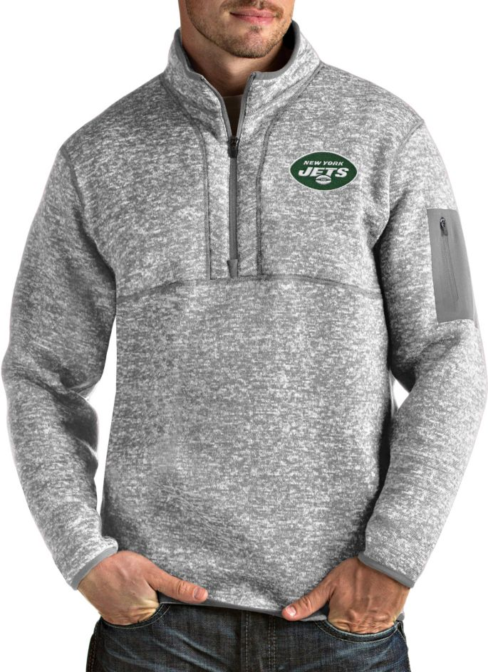 Cheap Antigua Men's New York Jets Fortune Heather Grey Pullover Jacket  for sale