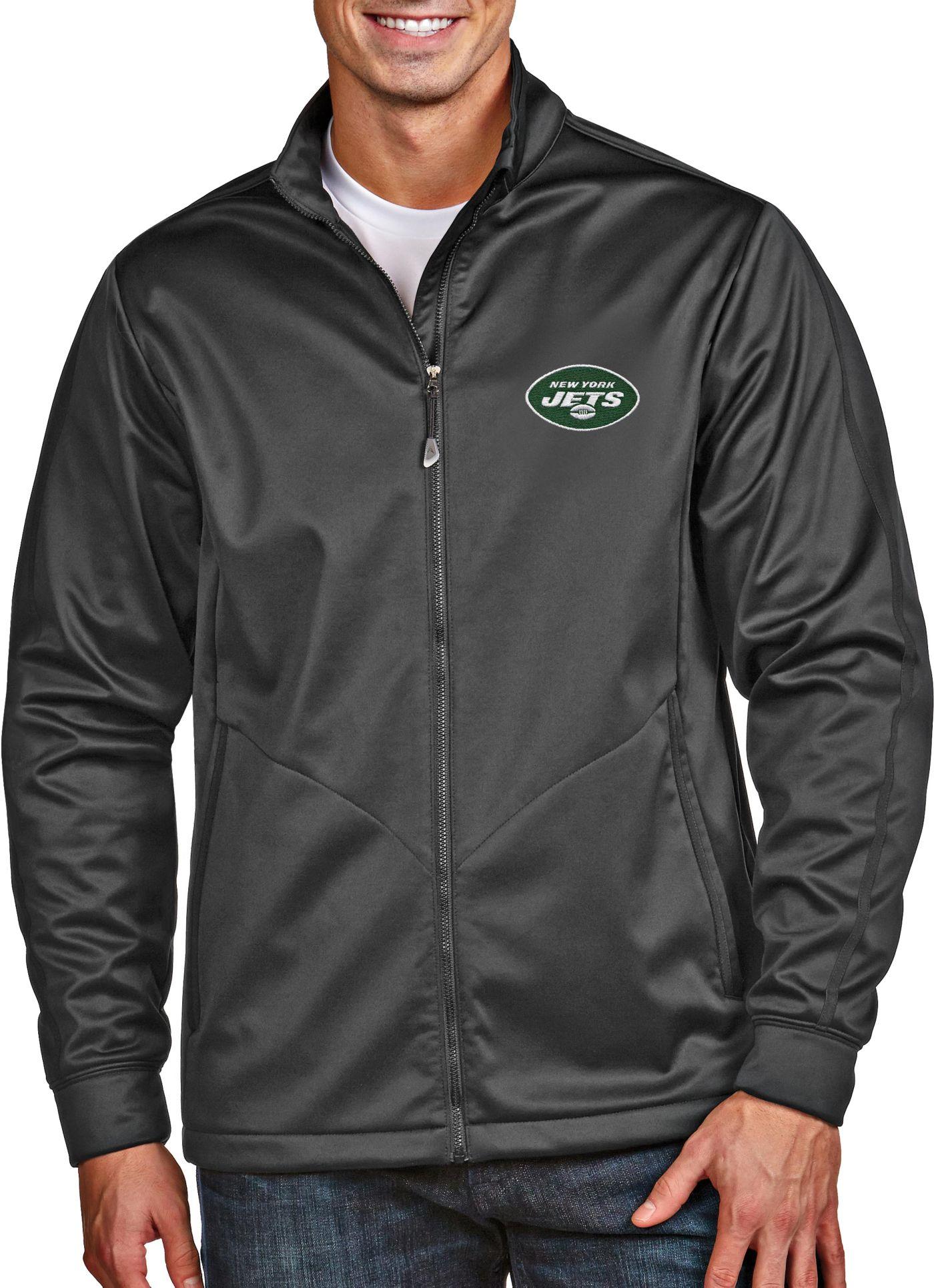 Antigua Men's New York Jets Golf Smoke Full-Zip Jacket