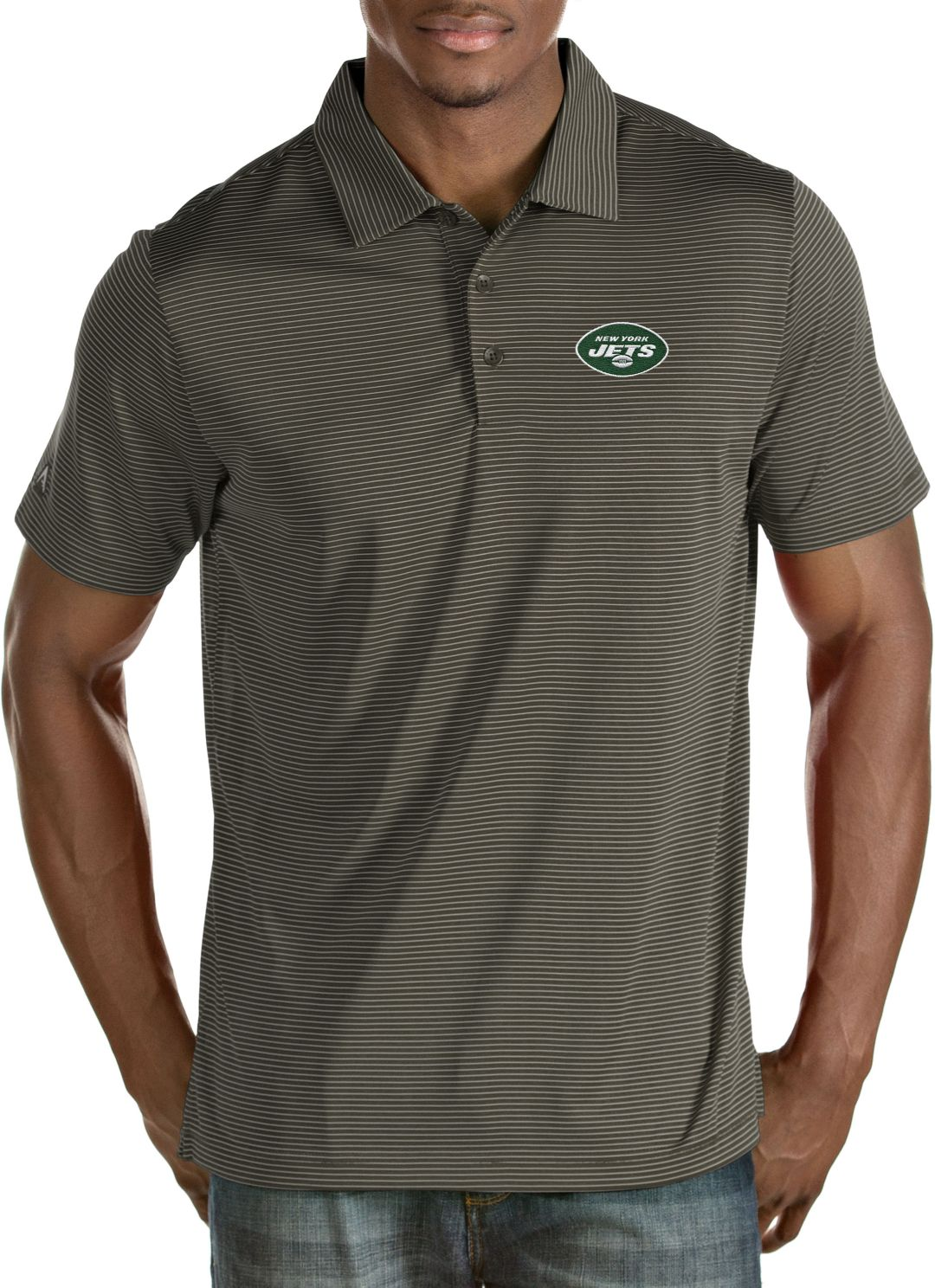 7a32d44b Antigua Men's New York Jets Quest Steel Polo