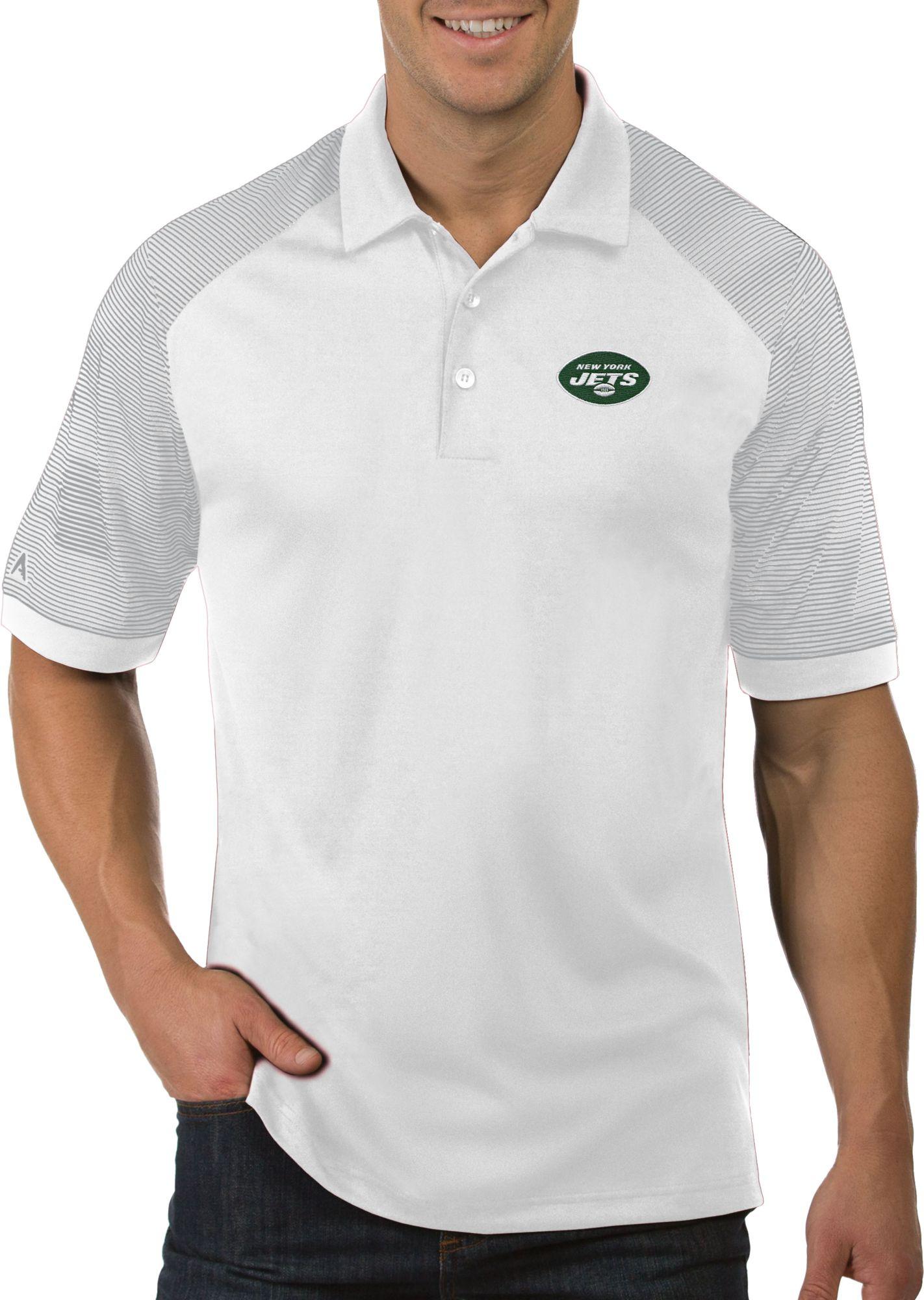 d818f6ed Antigua Men's New York Jets Engage Performance White Polo