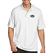 Antigua Men's New York Jets Pique Xtra-Lite Performance White Polo