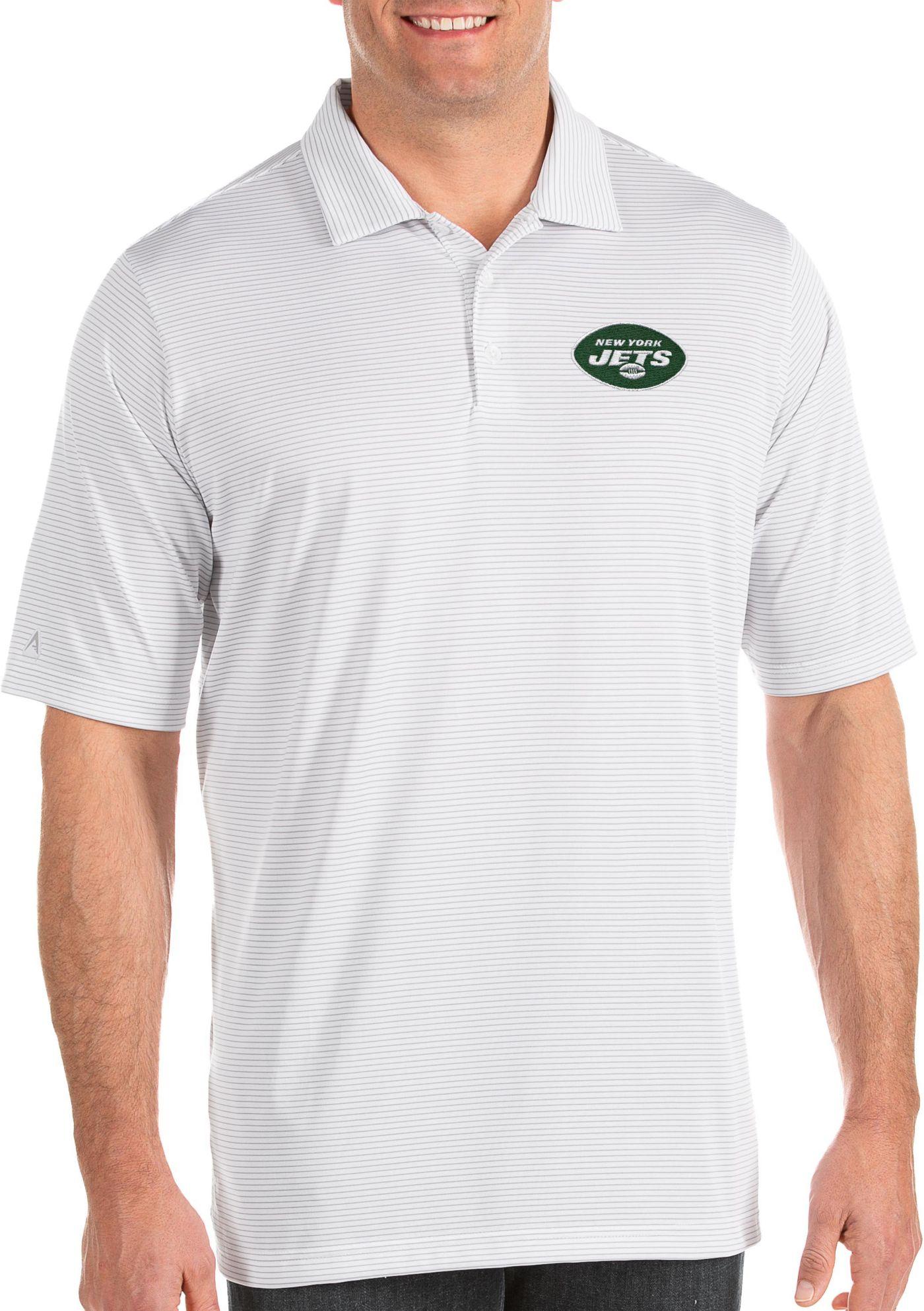 Antigua Men's New York Jets Quest White Polo