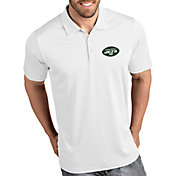 Antigua Men's New York Jets Tribute White Polo