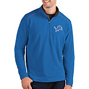 Antigua Men's Detroit Lions Glacier Blue Quarter-Zip Pullover