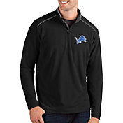 Antigua Men's Detroit Lions Glacier Black Quarter-Zip Pullover
