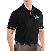Antigua Men's Detroit Lions Salute Black Polo