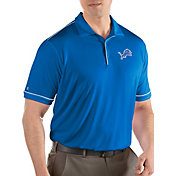 Antigua Men's Detroit Lions Salute Blue Polo