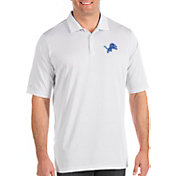 Antigua Men's Detroit Lions Quest White Polo