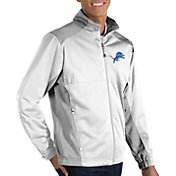 Antigua Men's Detroit Lions Revolve White Full-Zip Jacket