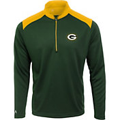 Antigua Men's Green Bay Packers Velocity Green Quarter-Zip Pullover