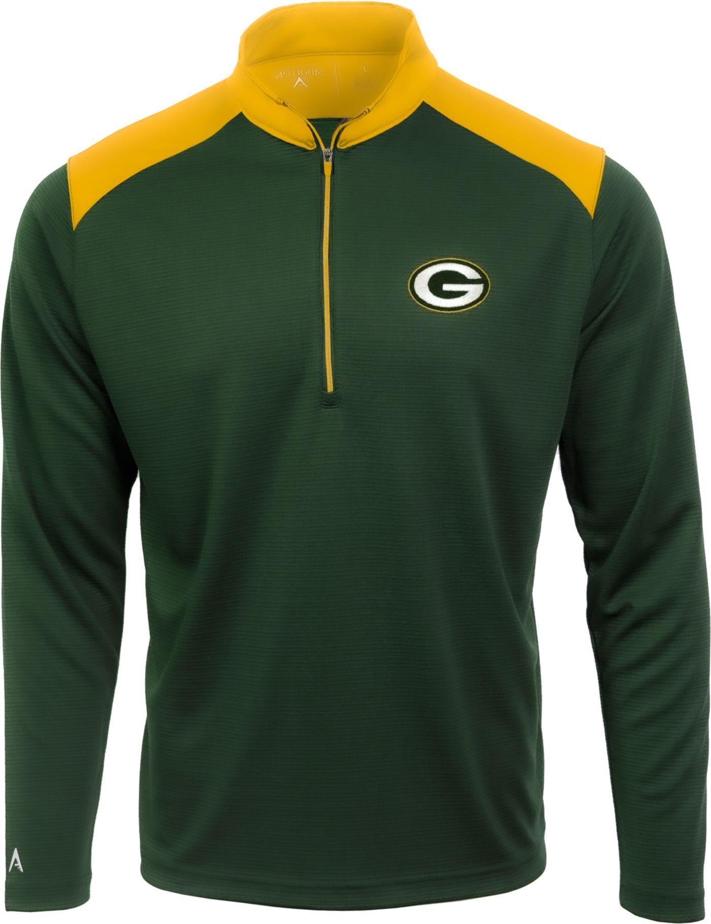 Antigua Men's Green Bay Packers Velocity Green Quarter-Zip Pullover