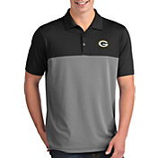 Antigua Men's Green Bay Packers Venture Black Performance Polo
