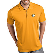 Antigua Men's Green Bay Packers Tribute Gold Polo
