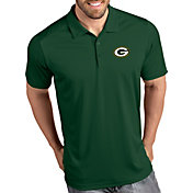 Antigua Men's Green Bay Packers Tribute Green Polo