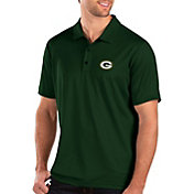 Antigua Men's Green Bay Packers Balance Green Polo