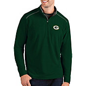 Antigua Men's Green Bay Packers Glacier Green Quarter-Zip Pullover