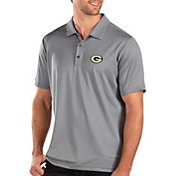 Antigua Men's Green Bay Packers Balance Grey Polo
