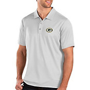 Antigua Men's Green Bay Packers Balance White Polo