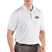 Antigua Men's Green Bay Packers Salute White Polo