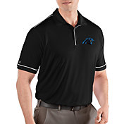 Antigua Men's Carolina Panthers Salute Black Polo