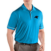 Antigua Men's Carolina Panthers Salute Blue Polo