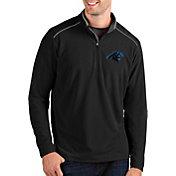 Antigua Men's Carolina Panthers Glacier Black Quarter-Zip Pullover