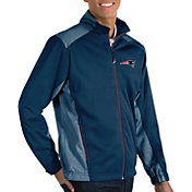 Antigua Men's New England Patriots Revolve Navy Full-Zip Jacket