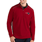 Antigua Men's New England Patriots Glacier Red Quarter-Zip Pullover