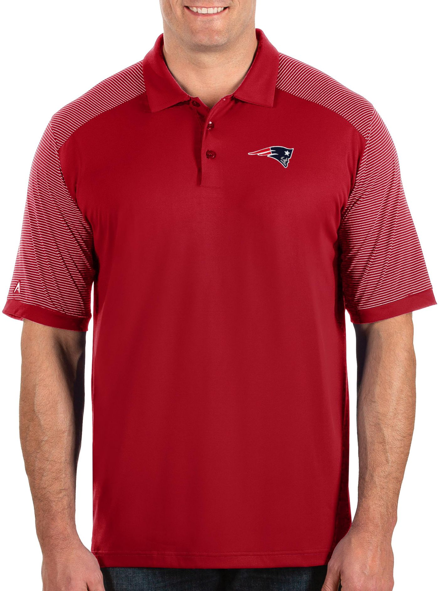 Antigua Men's New England Patriots Engage Performance Red Polo