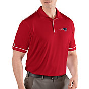 Antigua Men's New England Patriots Salute Red Polo