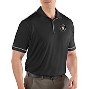Antigua Men's Oakland Raiders Salute Black Polo