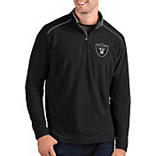 Antigua Men's Oakland Raiders Glacier Black Quarter-Zip Pullover