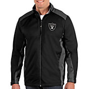Antigua Men's Oakland Raiders Revolve Black Full-Zip Jacket