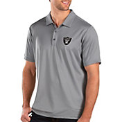 Antigua Men's Oakland Raiders Balance Grey Polo