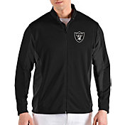 Antigua Men's Oakland Raiders Passage Black Full-Zip Jacket