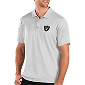 Antigua Men's Oakland Raiders Balance White Polo