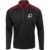 Antigua Men's Washington Redskins Velocity Black Quarter-Zip Pullover