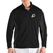 Antigua Men's Washington Redskins Passage Black Full-Zip Jacket