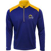 Antigua Men's Los Angeles Rams Velocity Royal Quarter-Zip Pullover