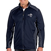 Antigua Men's Los Angeles Rams Revolve Navy Full-Zip Jacket